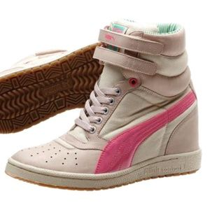 PUMA Sky Wedge Sneakers in Pink Women's Size 7.5